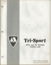 Reproduction Alsport Tri-Sport Parts List Manual MTS and TS Series