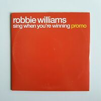 ROBBIE WILLIAMS : SING WHEN YOU'RE WINNING ♦ CD Album Promo ♦