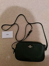 Coach Black Leather Acrossbody Bag