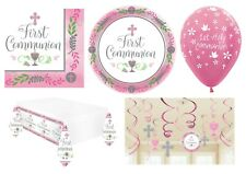 1st HOLY COMMUNION First PINK/GIRL Party Tableware Supplies Decorations (2019)