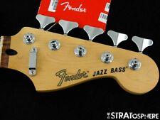 "2021 Fender Deluxe Jazz Bass V 5 String NECK + TUNERS 12"" Radius Pau Ferro"
