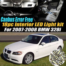 18Pc 2007-2008 BMW 328i CANbus Error Free Interior LED White Light Bulb Kit