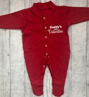 VALENTINE RED BABY GIRL BOY ROMPER Babygrow NEWBORN Love Cute Present MUM DAD