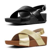 FitFlop Lulu Cross Back Strap Women's Mirror Metallic Sandals
