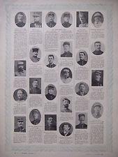 TABLEAU D'HONNEUR 4 PLANCHES N°193 au N°196 DES VICTIMES DE GUERRE 1914/1918