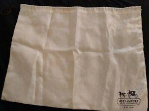 ladies bags: Coach Leatherware Pullstring White Bag