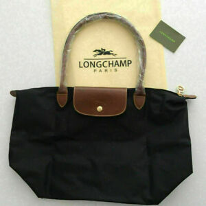 Large Size Brand New Longchamp New Le Pliage Nylon Tote Handbag Black Strap bag