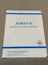 Vintage Afman II Automated Facilities Manager Version 2.0 Floppy Disk