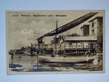 NETTUNO Stabilimento Lido Belvedere barche vela Roma vecchia cartolina