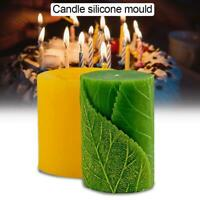 Leaves Shape Silicone Mould 3D Candle Soap Making Epoxy Resin Craft Clay Mold