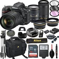 Nikon D750 DSLR Camera with 24-120mm +70-300mm VR Lenses + 21pc Bundle