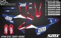 2017 2018 KTM EXC ENDURO graphic kit France ISDE 6 days EXC 350 XC-W 450 300 SXF