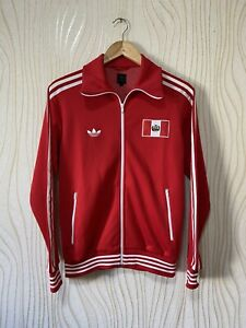 PERU FOOTBALL SOCCER TRACK TOP JACKET ADIDAS 025042 sz S