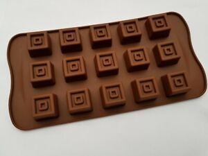 1 x Pralinenform Silikon Würfel  Schokolade Fontant  Muffin Backen  NEU 15 x