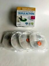 Catit Triple Action Cat Water Fountain Filters for Flower 5, #43746 - 4 Pack