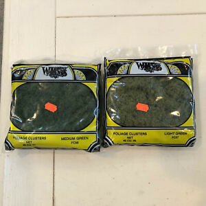 2 LARGE Bags of Woodland Scenics Foliage Clusters