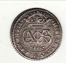 ESPAGNE (Barcelonne ) 2 REALES 1711 CHARLES III prétendant RARE RARE SUP
