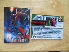 1994 SKYBOX DC MASTER SERIES DEATHSTROKE CARD SIGNED DAVE DEVRIES ART, WITH POA
