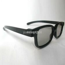 Passive 3D Glasses Black For RealD Cinema 3D TV Philips Panasonic Sony&More CAA