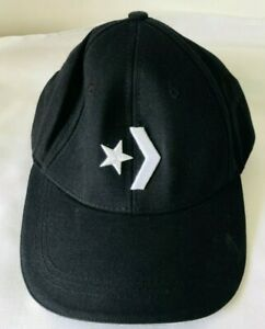 CONVERSE unisex core classic twill strapback, black  hat cap volt.