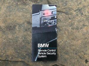 BMW E30 Control Remoto Vehículo Seguridad Sistema Manual Folleto Triple
