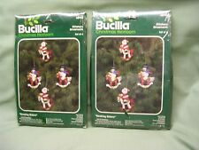 2 Bucilla Christmas Heirloom Ornament Kits, Feltcraft, New In Pack, Makes 8