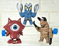 SET 3 ULTRAMAN KAIJU MONSTER ALIEN GAN-Q BALTAN GUDON WIND UP TOY FUNNY BANDAI