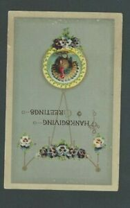 1911 Post Card Thanksgiving Greeting Celluloid