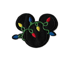 Mickey Mouse - Christmas Lights - Embroidered Iron On Applique Patch