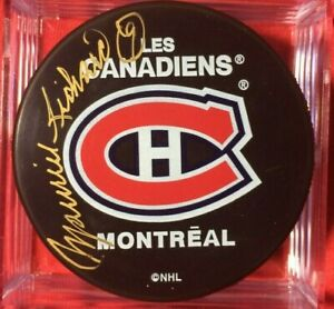 Maurice ' The Rocket ' Richard Signed  Montreal Canadiens Habs puck