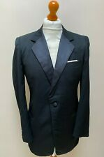 Vintage 1980's single breasted barathea dinner suit size 38