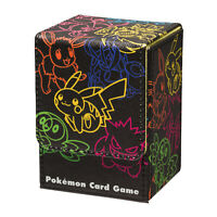 Pokemon Center Japanese NeonColor Pikachu Neon Deck Box Card Shield Case