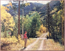 """Vintage Pastime Parker Brothers Wood Jigsaw Puzzle """"Hunting in Hills"""" 422 Pcs"""