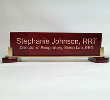 Engraved Desk Name Plate - Rosewood Block - (PNA310)