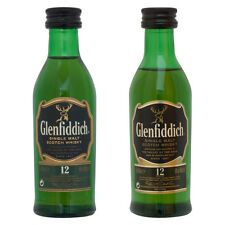 2 Different Glenfiddich 12 Year Old Single Malt Whisky Miniature - 50ml - 5cl