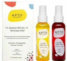 New In Box Apto Skincare Summer Mist Set Turmeric & Pomegranate Face Mist 2oz ea