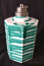 Flasche mit Zinnmontur Gmundner Keramik grün geflammt Schnapsflasche Kanne G879