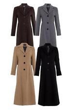 Wool Blend Winter Single Breasted Coats & Jackets for Women