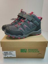 Rugged outback Winona hiker Kids Hiking Boots high top lace Shoes size 3