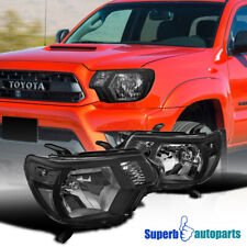 For 2012-2015 Toyota Tacoma Pickup Factory Style Black Headlights