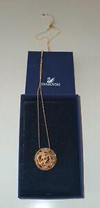 Swarovski gold Halskette Damen mit Kugel besetzt mit Strass,Echtheitszertifikat