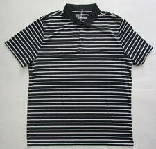 Men's Nike Golf Dri-Fit Polo Shirt, New Blk White Stripes Sport Standard Fit XL