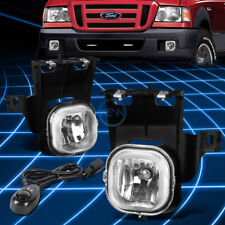Chrome Clear Front Driving Fog Light/Lamp+Switch for 2006-2007 Ford Ranger Truck