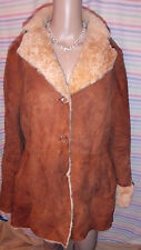 Natural sheepskin jacket Large, new, styled in Italy