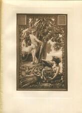 Antique Golden Fleece Ram Artistic Nude Woman Dragon Greek Mythology Art Print