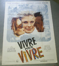 Affiche de cinéma : VIVRE POUR VIVRE de Claude LELOUCH
