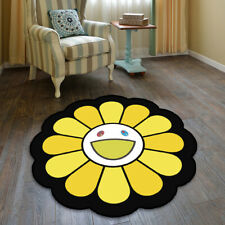 Takashi Murakami Sunflower Cool Floor Rug Carpet Room Doormat Non-slip Chair Mat