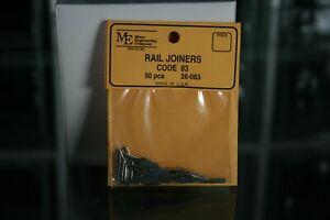 Micro Engineering 26-083 Code 83 Rail Joiners Pack of 50