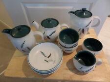 DENBY GREENWHEAT - various items  - PLATES, TEA POT, COFFEE POTS,  BOWLS, SUGAR