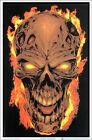 """Flaming Skull Laminated Blacklight Poster - 23.5"""" x 35.5"""""""